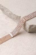 Pamela Rose Gold Rhinestone Wrap Necklace 3