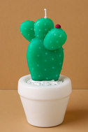 Sunnylife Round Cactus Green Small Candle 2