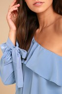 J.O.A. Always Dreaming Periwinkle Blue One Shoulder Top 5