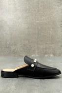 Winona Black Pearl Loafer Slides 2