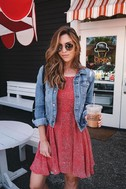 Happy Together Red Polka Dot Lace-Up Dress 5