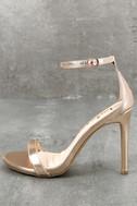 Loveliness Rose Gold Ankle Strap Heels 1