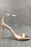 Loveliness Rose Gold Ankle Strap Heels 2