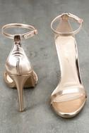 Loveliness Rose Gold Ankle Strap Heels 3