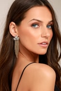 Stunning Starlet Gold Rhinestone Earrings 1