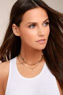 Dionysus Brown and Gold Layered Choker Necklace 1