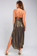 Free People Anytime Shine Gold Slip Dress 7