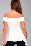 Shopping Spree White Off-the-Shoulder Top 3