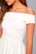 Shopping Spree White Off-the-Shoulder Top 4