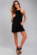 RVCA Pipe Dream Black Swing Dress 5