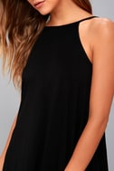 RVCA Pipe Dream Black Swing Dress 8