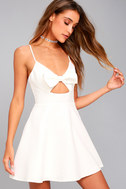 Better Bow-lieve It White Skater Dress 6