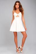 Better Bow-lieve It White Skater Dress 5