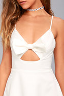 Better Bow-lieve It White Skater Dress 8