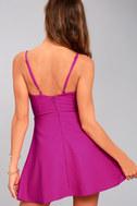 Better Bow-lieve It Magenta Skater Dress 7