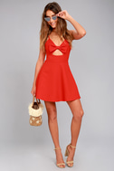 Better Bow-lieve It Red Skater Dress 5