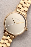 Nixon Kensington Light Gold and Mirror Watch 3