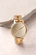 Nixon Kensington Light Gold and Mirror Watch 1