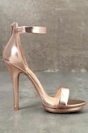 Samantha Rose Gold Platform High Heel Sandals 3