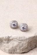 Dream Date Silver Rhinestone Earrings 2