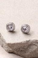 Dream Date Silver Rhinestone Earrings 3