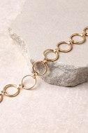 Loopsy Daisy Gold Choker Necklace 2