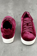 Circus by Sam Edelman Caprice Cranberry Velvet Sneakers 3