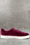 Circus by Sam Edelman Caprice Cranberry Velvet Sneakers 2