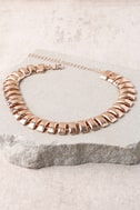 Link Up Rose Gold Choker Necklace 3