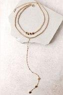 Sybella Gold Layered Choker Necklace 2