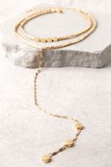 Sybella Gold Layered Choker Necklace 3