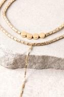 Sybella Gold Layered Choker Necklace 4