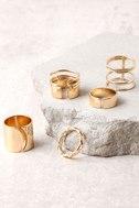 Radiant Rush Gold Ring Set 2