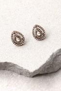 Akasha Gold Rhinestone Earrings 2