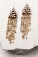 Cascada Gold Rhinestone Earrings 2