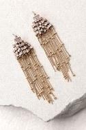 Cascada Gold Rhinestone Earrings 3