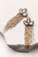 Stunning Starlet Gold Rhinestone Earrings 2