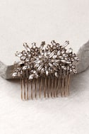 Peak of Perfection Gold Rhinestone Hair Comb 2