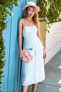 Ocean Traveler Blue Striped Midi Dress 5