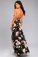 Adventure Seeker Black Floral Print Maxi Dress 2