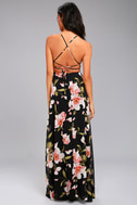Adventure Seeker Black Floral Print Maxi Dress 3