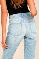 Seeing Stars Light Wash Distressed Skinny Jeans 4