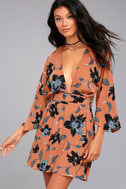 Faithfull the Brand Nova Terra Cotta Floral Print Backless Dress 3