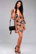 Faithfull the Brand Nova Terra Cotta Floral Print Backless Dress 1