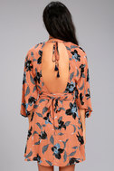 Faithfull the Brand Nova Terra Cotta Floral Print Backless Dress 6