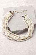 Into the Glitz Pearl Layered Choker Necklace 3