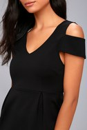 Black Swan Vera Black Cold Shoulder Dress 4