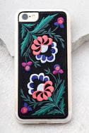 Zero Gravity Belle Black Embroidered iPhone 7 Case 2