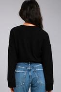 Project Social T Louis Black Cropped Sweatshirt 3