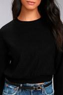 Project Social T Louis Black Cropped Sweatshirt 4